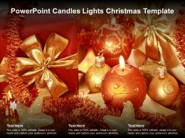 Powerpoint Candles Lights Christmas Template