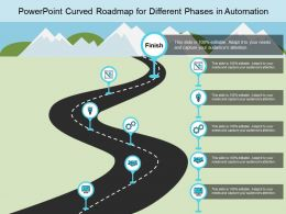 Powerpoint Curved Roadmap For Different Phases In Automation