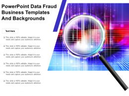 Powerpoint Data Fraud Business Templates And Backgrounds