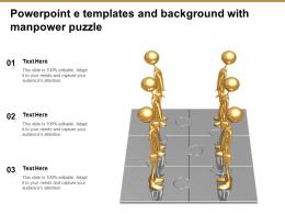 Powerpoint E Templates And Background With Manpower Puzzle