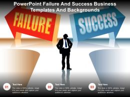 Powerpoint Failure And Success Business Templates And Backgrounds
