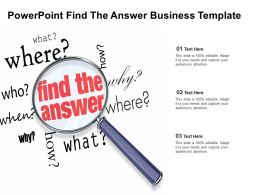 Powerpoint Find The Answer Business Template