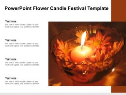 Powerpoint Flower Candle Festival Template