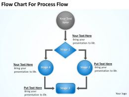 Powerpoint For Business Flow Chart Process Slides 0515