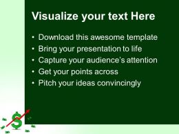 Powerpoint For Business Templates Dollar Up Arrow Graph Finance Ppt Theme