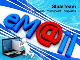 Powerpoint For Business Templates Email Computer Strategy Ppt Backgrounds Slides
