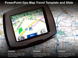 Powerpoint GPS Map Travel Template And Slide
