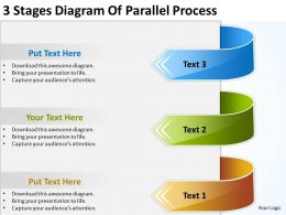 Powerpoint Graphics Business 3 Stages Diagram Of Parallel Process Templates