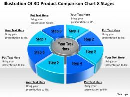 Powerpoint Graphics Business Illustration Of 3d Product Comparison Chart 8 Stages Slides