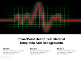 Powerpoint Health Test Medical Templates And Backgrounds