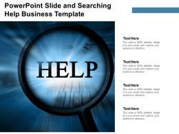 Powerpoint Help Business Template