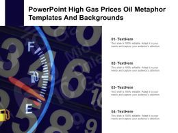 Powerpoint High Gas Prices Oil Metaphor Templates And Backgrounds