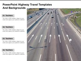Powerpoint Highway Travel Templates And Backgrounds