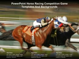 Powerpoint Horse Racing Competition Game Templates And Backgrounds