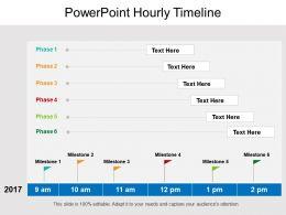 Powerpoint Hourly Timeline Sample Presentation Ppt