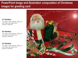 Powerpoint Image And Illustration Composition Of Christmas Images For Greeting Card