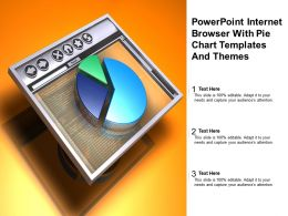 Powerpoint Internet Browser With Pie Chart Templates And Themes