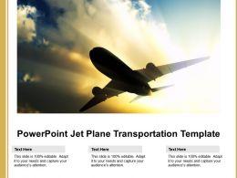 Powerpoint Jet Plane Transportation Template