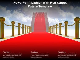Powerpoint Ladder With Red Carpet Future Template