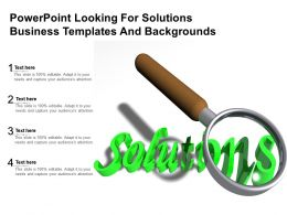 Powerpoint Looking For Solutions Business Templates And Backgrounds