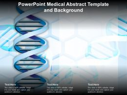 Powerpoint Medical Abstract Template And Background