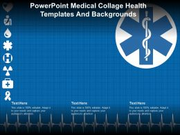 Powerpoint Medical Collage Health Templates And Backgrounds