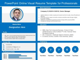 Powerpoint Online Visual Resume Template For Professionals