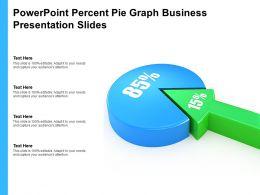 Powerpoint Percent Pie Graph Business Presentation Slides