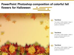 Powerpoint Photoshop Composition Of Colorful Fall Flowers For Halloween
