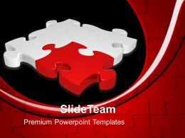 Powerpoint Puzzle Pieces Template Templates Red Solution Jigsaw Business Ppt Slides