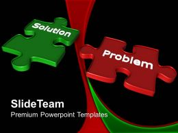 Powerpoint Puzzle Pieces Template Templates Solution Problem Business Strategy Ppt Backgrounds