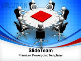 Powerpoint Puzzle Pieces Template Templates Teamwork Solution Business Pt Layouts