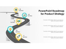 Powerpoint Roadmap For Product Strategy