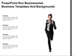 Powerpoint Run Businessman Business Templates And Backgrounds