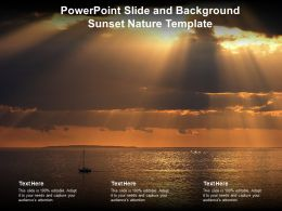 Powerpoint Slide And Background Sunset Nature Template