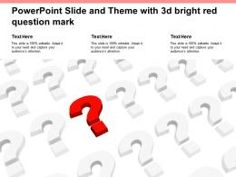 Powerpoint Slide And Theme With 3d Bright Red Question Mark