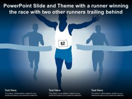 Powerpoint Slide And Theme With A Runner Winning The Race With Two Other Runners Trailing Behind
