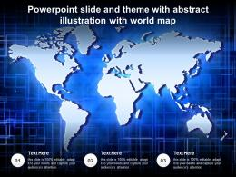 Powerpoint Slide And Theme With Abstract Illustration With World Map