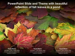 Powerpoint Slide And Theme With Beautiful Reflection Of Fall Leaves In A Pond