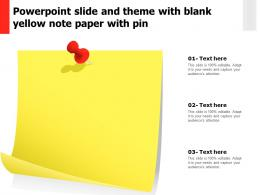 Powerpoint Slide And Theme With Blank Yellow Note Paper With Pin