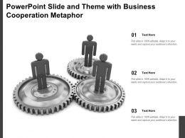 Powerpoint Slide And Theme With Business Cooperation Metaphor