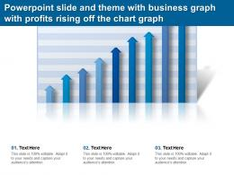 Powerpoint Slide And Theme With Business Graph With Profits Rising Off The Chart Graph