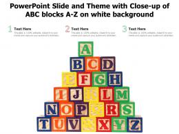 Powerpoint Slide And Theme With Close Up Of ABC Blocks A Z On White Background