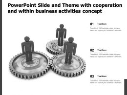 Powerpoint Slide And Theme With Cooperation And Within Business Activities Concept