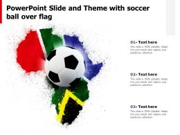 Powerpoint Slide And Theme With Soccer Ball Over Flag
