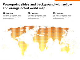Powerpoint Slides And Background With Yellow And Orange Doted World Map