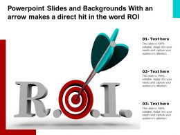 Powerpoint Slides And Backgrounds With An Arrow Makes A Direct Hit In The Word ROI