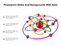 Powerpoint Slides And Backgrounds With Atom