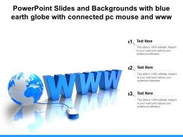 Powerpoint Slides And Backgrounds With Blue Earth Globe With Connected Pc Mouse And Www
