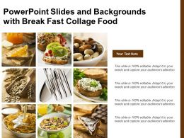 Powerpoint Slides And Backgrounds With Break Fast Collage Food